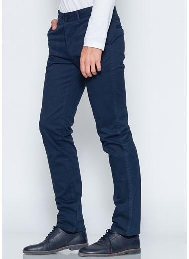 Adze Slim Fit Kanvas Pantolon Lacivert